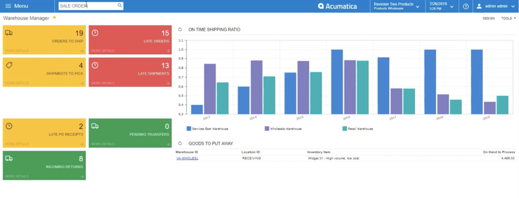 using acumatica search engine to search for sales order
