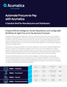 A Solution Brief for Manufacturers and Distributors