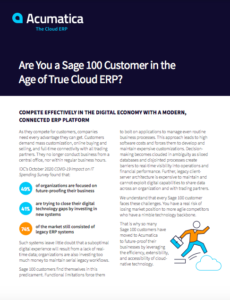 Are you a Sage 100 Customer?