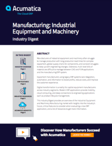 Manufacturing: Industrial Equipment and Machinery